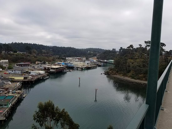 Surf Motel and Gardens: Noyo Harbor from bridge