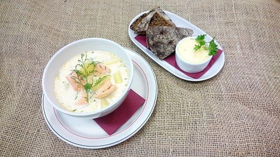 Soup lunch in Salla Reindeer Park