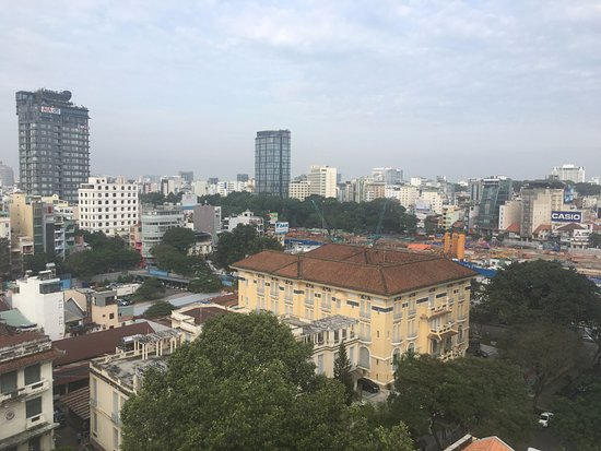 Signature Saigon Hotel: View from the breakfast room
