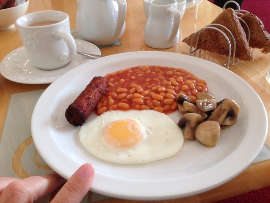 Brampton Guesthouse: Veggie breakfast (tomatoes are also available)