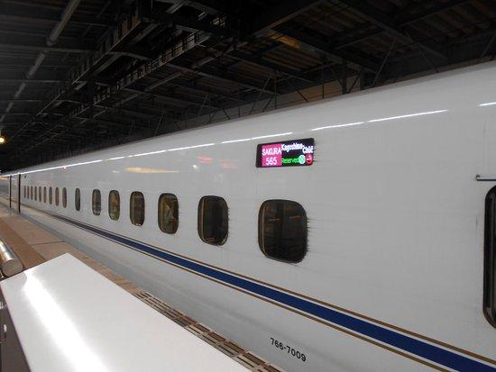 Kyushu-Okinawa, Japan: JR久留米駅に到着した直後のさくら565号