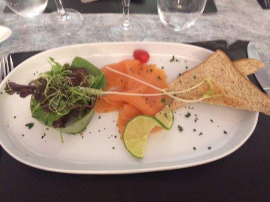 Agenvillers, France: entrée de saumon