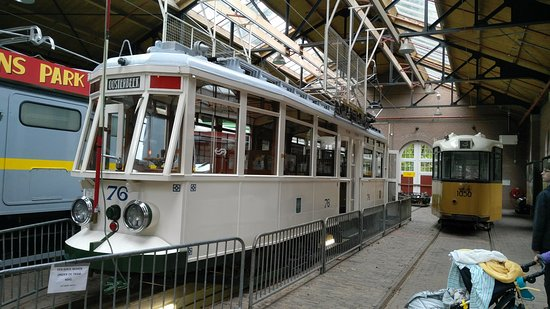 Netherlands Open-Air Museum and National Heritage Museum: reproduction of an old traditional dutch tram