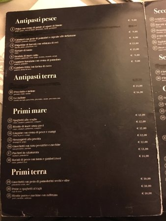 Osteria Pazza Idea : menu1