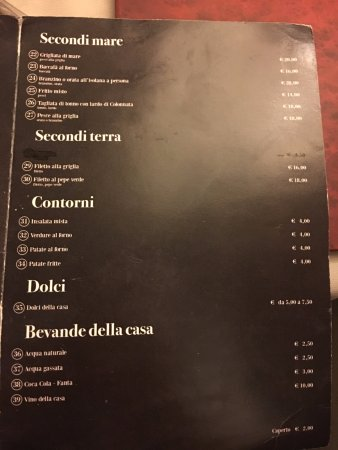 Osteria Pazza Idea : menu2