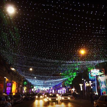 christmas lights on park street