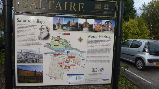 Map of Saltaire village Picture of Saltaire Village Shipley
