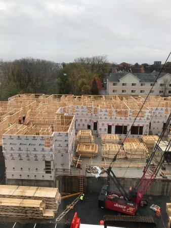Hilton Garden Inn Albany / SUNY Area: Construction next door