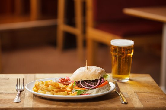 Kingsbridge, UK: Made to our own recipe, a delicious burger