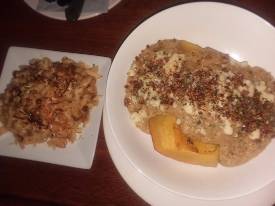Duryea, PA: Pumpkin Planked Polenta with Mac 'n Cheese side