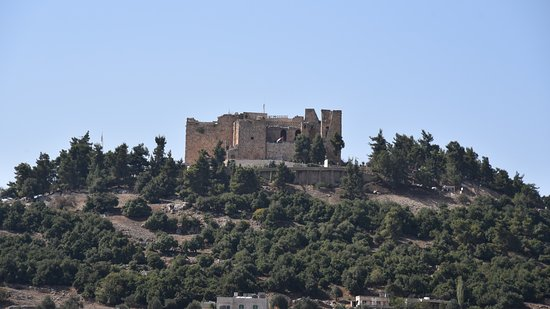 Ajlun, Jordan: Distance view of castle