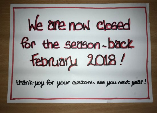 Boscastle, UK: We are now closed until February 2018!