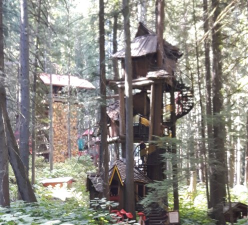 The Enchanted Forest: One of the many fun structures