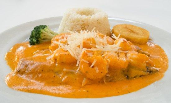 Resultado de imagen para pescado en salsa de langostinos