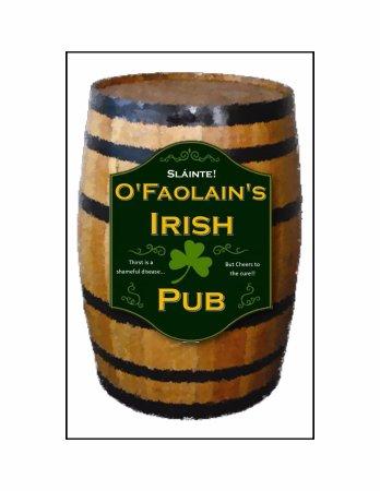 O'Faolain's Irish Pub: Cocktail Menu