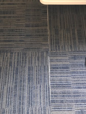 Hampton Inn St. Augustine - I-95: More separated floor tiles with sticky tape showing
