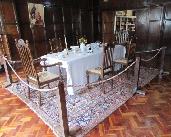 Dining room in the Karen Blixen Museum.