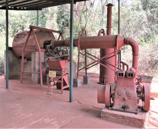 Coffee processing equipment outside the Karen Blixen Museum.