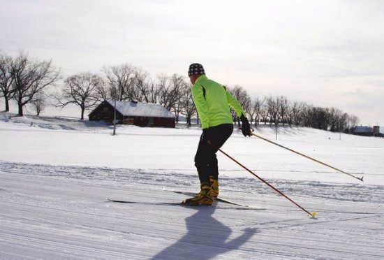Lyndonville, VT: X=-country skiing on Kingdom Trails at the Wildflower Inn
