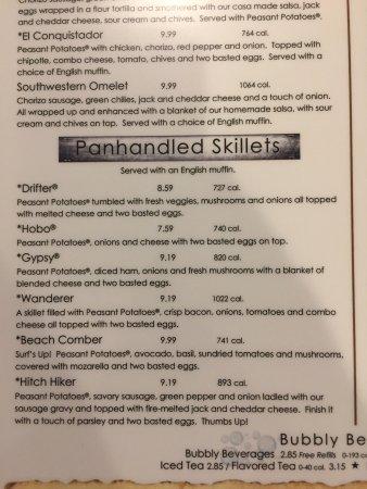 Huge and excellent menu