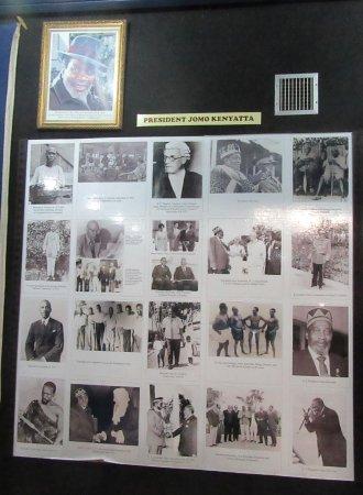 National Archives: Display on Jomo Kenyatta, the first president of Kenya.