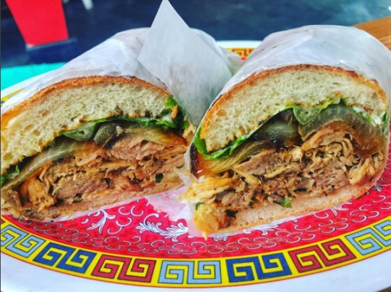 Bien: Carribean roast pork sandwich