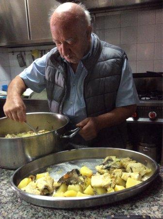 Leni, Italy: Baccalà prepared by Fillipo