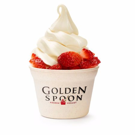 La Mesa, CA: Golden Spoon frozen yogurt with strawberries