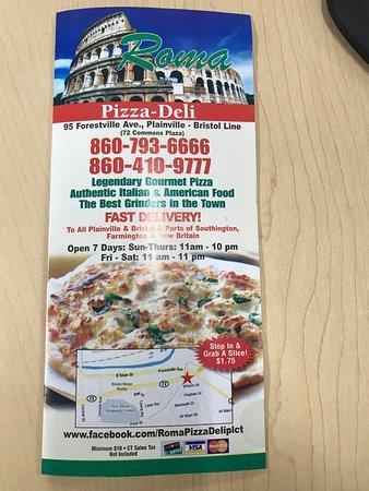Plainville, CT: Roma Pizza