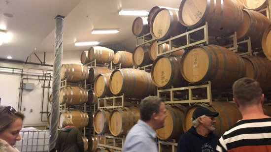 Yountville, CA: Wine barrels