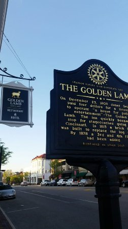 Lebanon, OH: The Golden Lamb Restaurant Landmark Plaque