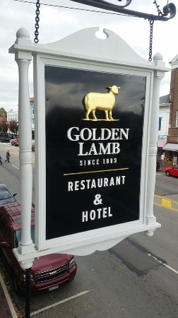 Lebanon, OH: The Golden Lamb Restaurant Sign