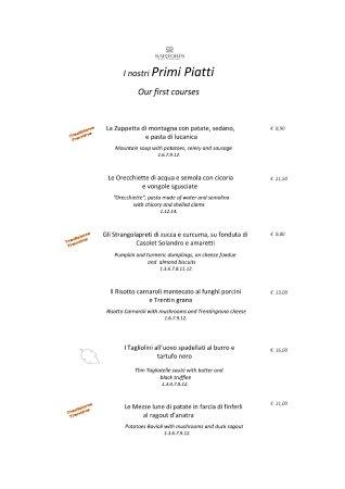 Lavis, Italy: Menù Autunno pag 2/3