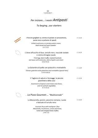 Lavis, Italy: Menù Autunno pag 1/3