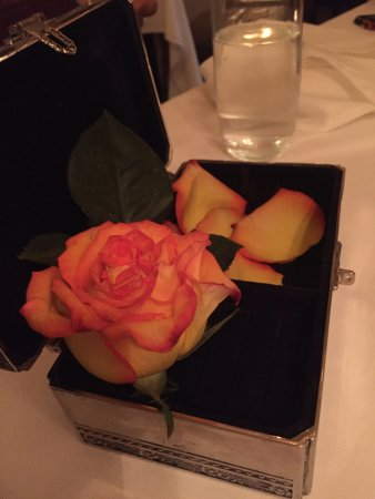 Piermont, Estado de Nueva York: The check comes with a rose