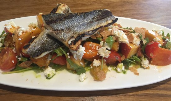 Potomac, MD: Trout and fruit salad