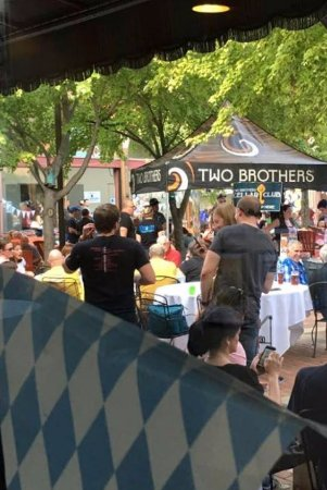 Two Brothers Roundhouse : Courtyard during Oktoberfest, 2017