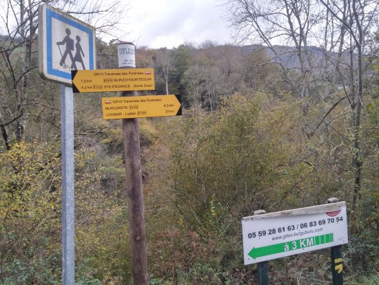 Sainte-Engrace, Francja: Detalle de otras rutas para hacer de senderismo