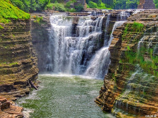 Warsaw, NY: Upper Falls at Letchworth State Park taken by Bobby Rondelli