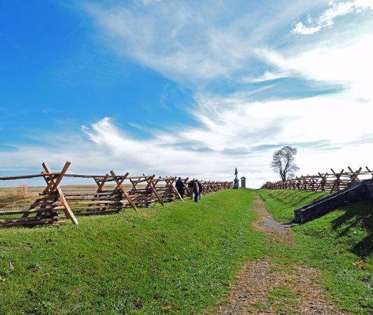 Sharpsburg, MD: The Sunken Road, also known as Bloody Lane.