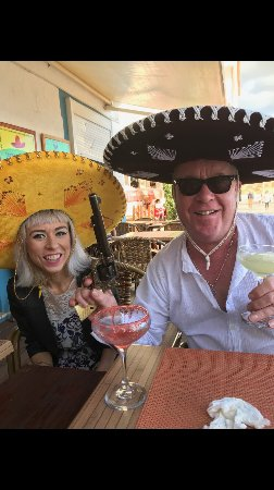 Mi Sombrero : Trying out the sombreros and cocktails.
