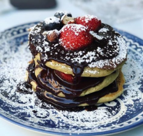 Pancakes Strawberry Chocolate Picture Of Fleur De Lis Alexandroupoli Tripadvisor