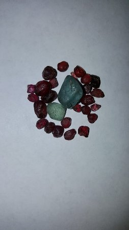 Helena, MT: These are two of the larger stones I got at the mine. The Garnets are from Ruby Valley.