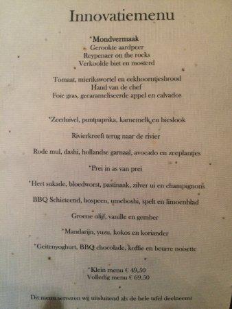 Restaurant Rijnzicht: Menu