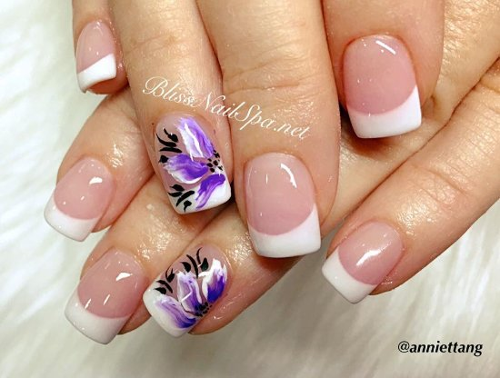 Overlay P&W for short nails - Picture of Bliss Nail Spa, Naples ...