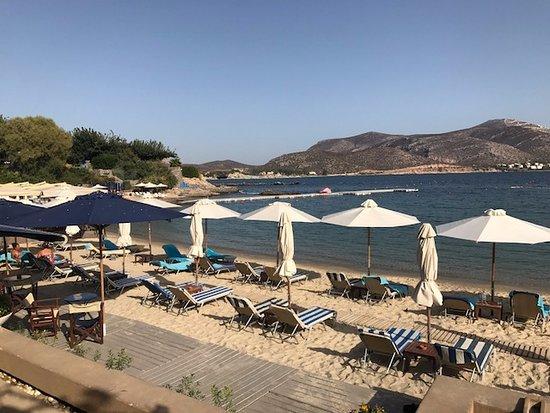 Lagonisi, Grecia: Beach area (private)
