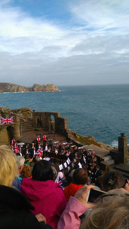 The Minack theatre once the sun came out.