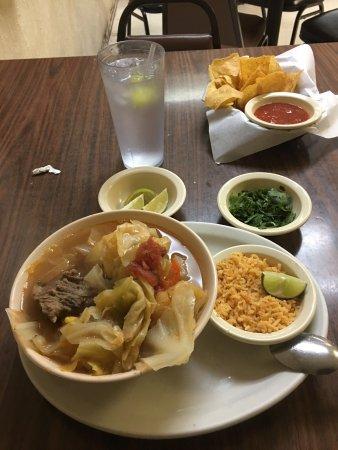 Sonora, TX: Delicious Caldo de Res (Beef soup)