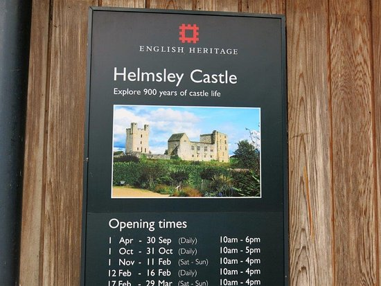 Helmsley Castle - Entry Sign