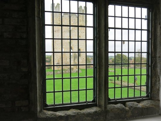 Helmsley, UK: Castle tower from inside the Museum